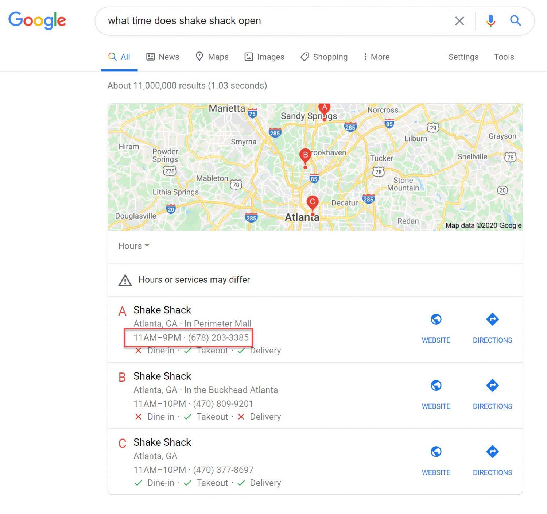 No Click Search Example